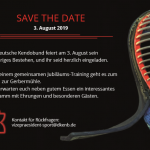 SAVE THE DATE 3. August 2019